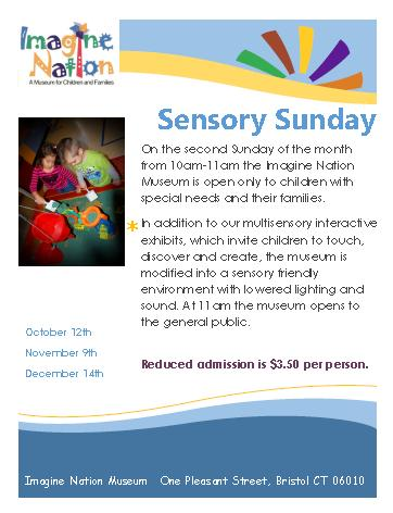 sensory sunday flyer